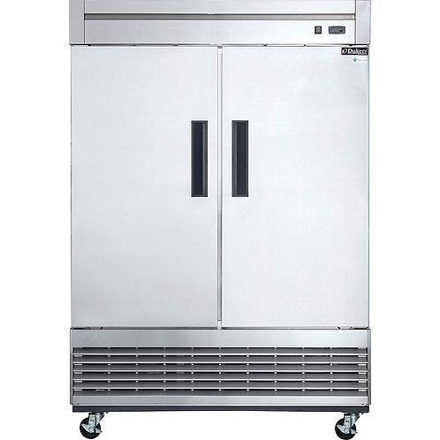 New Dukers D55F S/S (2) Solid Door Freezer Bottom Mount