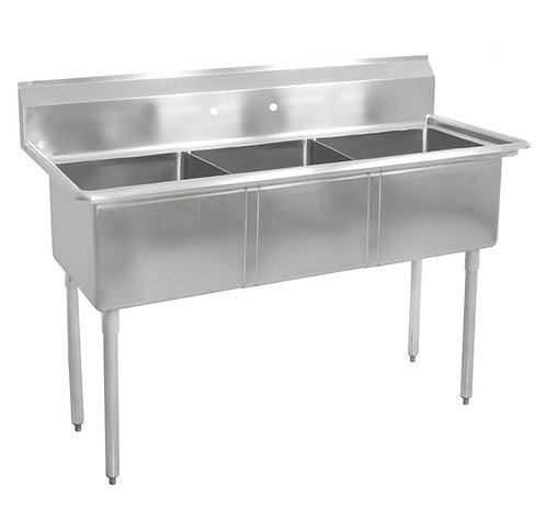 New Sapphire 2020-3 Three Compartment Sink