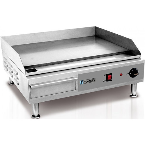 New Eurodib SFE04900 2,400 Watt Griddle, Countertop, Standard Duty