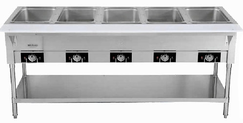 "New Serv-Ware EST5-2 (72"") Electric 5 Bay Steam Table 220 Volts"