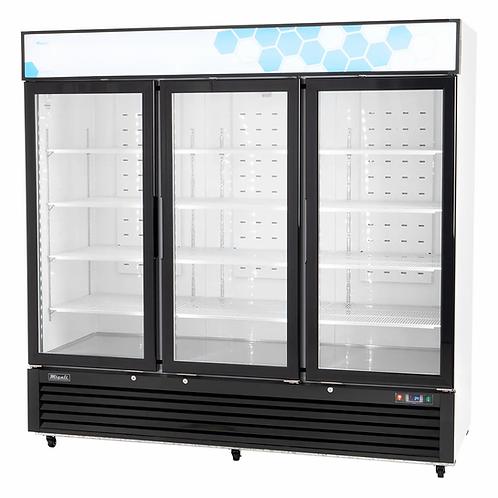 New Migali C-72RM-HC 72 cu/ft Triple Glass Door Merchandiser Refrigerator