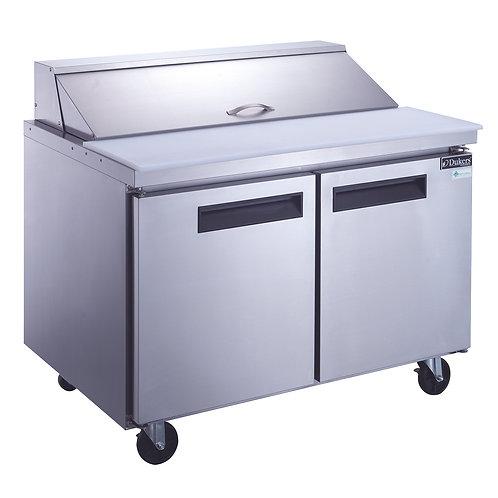 New Dukers DSP48-12-S2 2-Door Food Prep Table Refrigerator In S/S