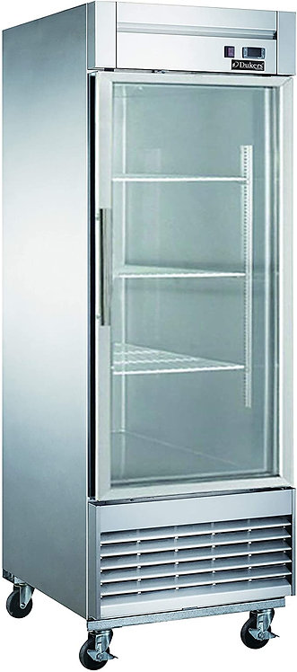 New Dukers D28R-GS1 1 Glass Door Refrigerator Bottom Mount