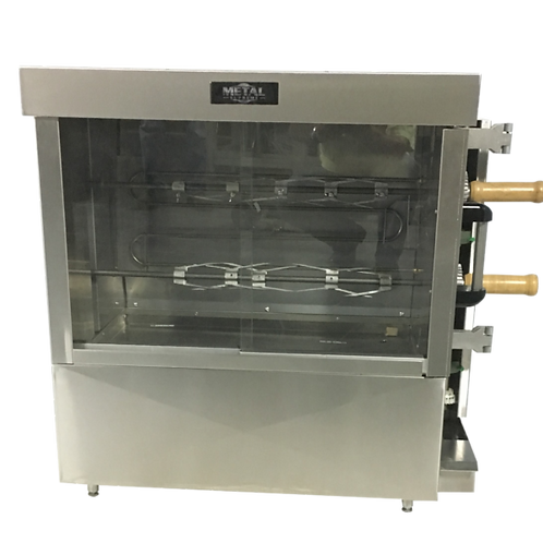 New Metal Supreme Commercial Rotisserie Oven 8 Chicken Capacity, Electric 220V,