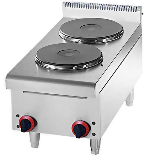 New Cookline GS2 Countertop 2 Burner Electric Hot Plate - 5200W 220V/1PH