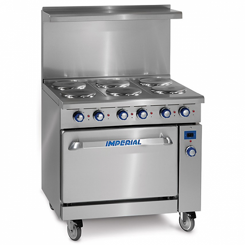 "New Imperial IR-6-E 36"" Electric Restaurant Range - 208 Volts"