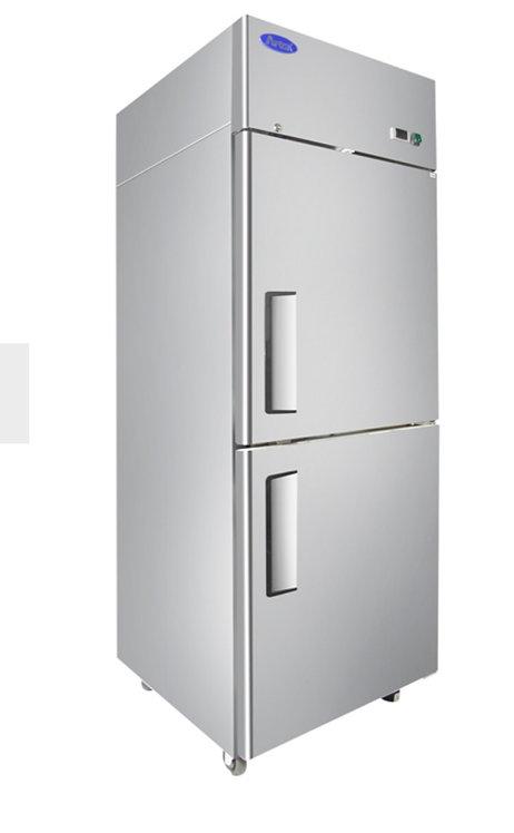 New Atosa MBF8010GR Refrigerator left Hinged 1/2 Door