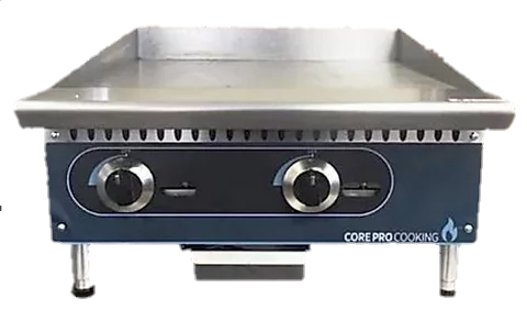 """New Core Pro 24"""" Electric Thermostatically Controlled Flat Griddle 220V/1PH"""