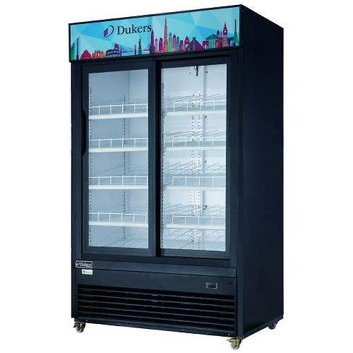 """New Dukers DSM-40SR 47"""" Two Glass Sliding Door Refrigerator"""