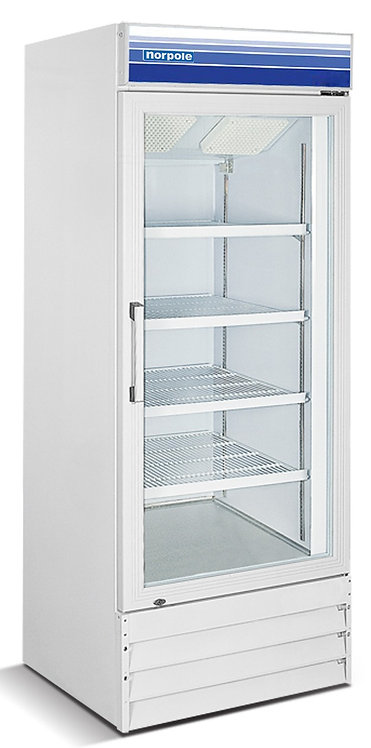 New Norpole NPGF1-S13 Single Glass Door Freezer White Color