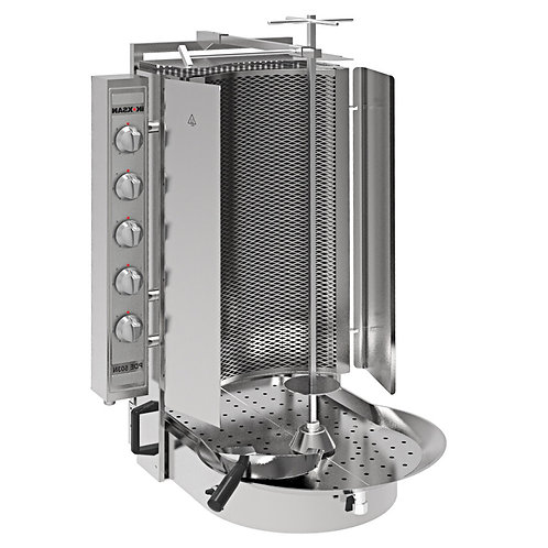 New Inoksan PDE 503N Electric Vertical Broiler Gyro Machine, Robax Glass 198 Lb