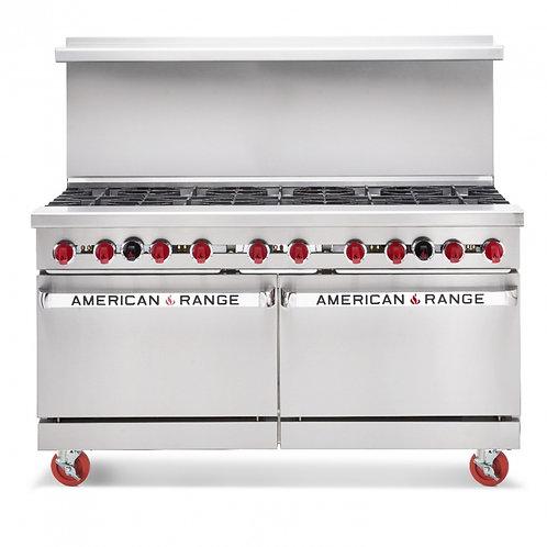 New American Range AR-10 (10) Burner Range 2 Standard Ovens Natural Gas