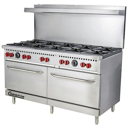 New Connerton CN60-10 (10) Burner Range with (2) Standard Ovens NG