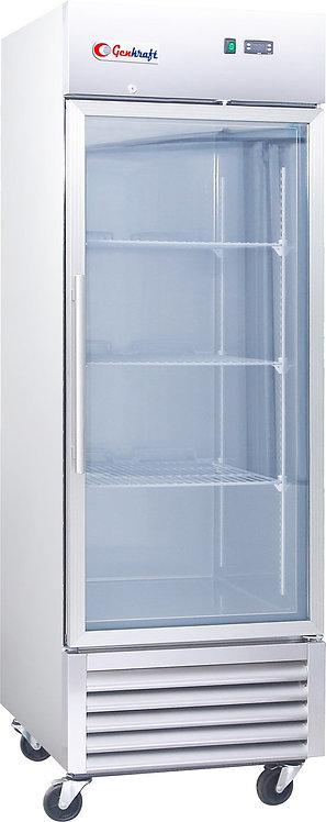 New Genkraft GST23-BFG Single Glass Swing Door Freezer, 23 Cu. Ft.