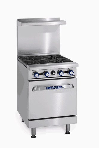 "Imperial Range IR-4 24"" Restaurant Range with 4 Gas Burners & Standard Oven"