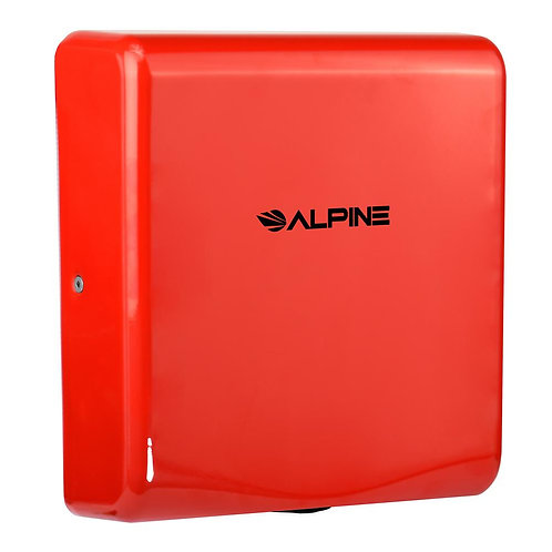New Alpine 405-10-RED Willow High Speed Commercial Hand Dryer, 120V, Red