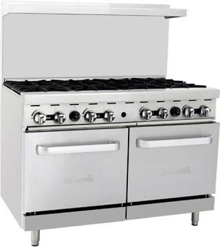 New Migali (C-RO8-NG/C-RO8-NAT) 48″ 8 Burner Gas Range with 2 Ovens