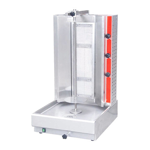 New Cookline 3G (55 LB) Gyro Machine / 3 Double Vertical Broiler Natural Gas