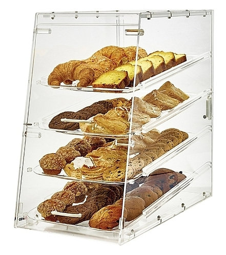 "New Winco ADC-4 (21"") 4 Tray Acrylic Display Case"
