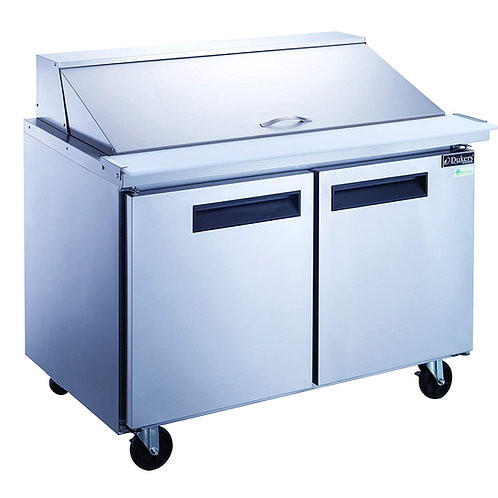 New Dukers DSP48-18M-S2 Mega Top 2 Door Food Prep Table Refrigerator In  S/S
