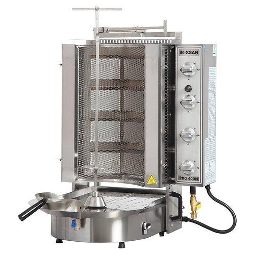 New Inoksan PDG400NM-NAT, 130 Lbs Natural Gas Gyro Machine, Bottom Motor