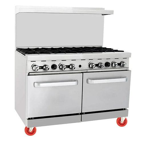 New CookRite ARG-8B (8) Burner Range With 2 Standard Ovens Natural Gas