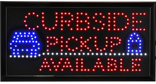 New Curbside Pickup Available LED Neon Business Motion Light Sign with Chain S30