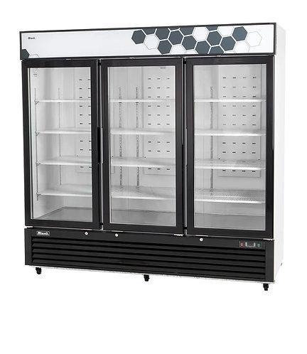 New Migali C-72FM 72 cu/ft Glass 3 Door Merchandiser Freezer