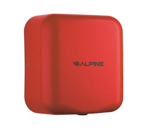 New Alpine 400-10-RED Red Color 120-Volt High Speed Dry Electric Hand Dryer
