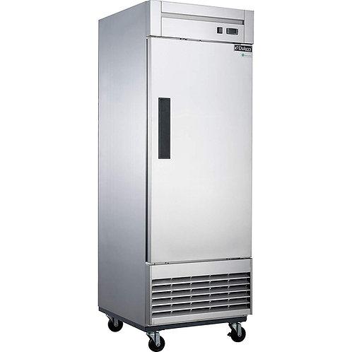 New Dukers D28F S/S (1) Solid Door Freezer Bottom Mount