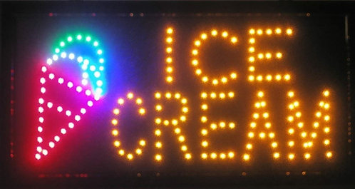 New Ice Cream LED Neon Business Motion Light Sign with Chain, S30