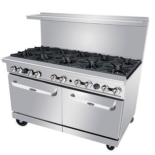 New CookRite ATO-10B (10) Burner Range 2 Standard Ovens Natural Gas