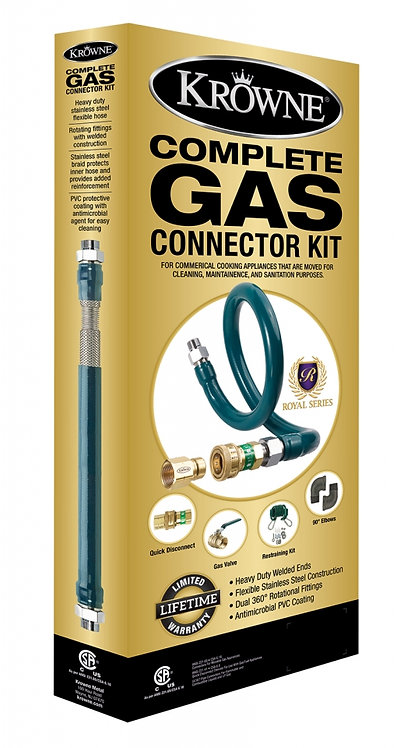 "New Krowne M7548K Royal Series 3/4"" Flexible Gas Hose Kit With Quick Disconnect"