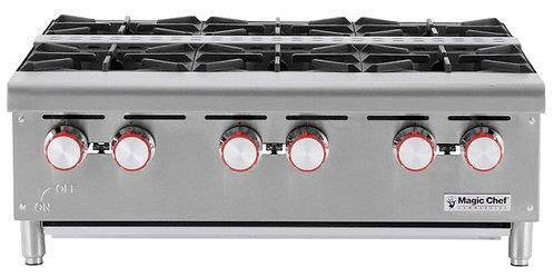 New Magic Chef MCCHP36A (6) Heavy Duty Hotplate Natural Gas
