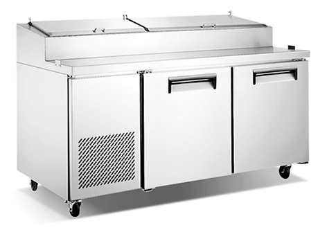 "New Genkraft GPP-67 (67"") Pizza Prep Table In Stainless Steel"