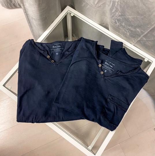 Langarmshirt, Salsa blau