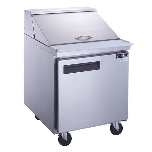 New Dukers DSP29-12M-S1 1-Door Food Prep Table Refrigerator in S/S Mega Top