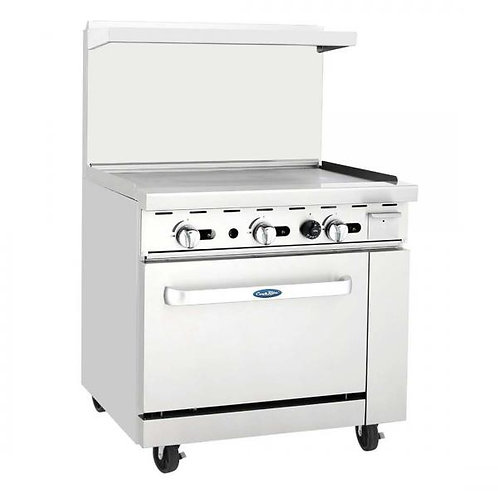"""New CookRite ATO-36G (36"""") Wide Griddle Range With One Standard Oven NG"""