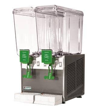 New AMPTO D1256 Double 5 Gallon Cold Beverage Dispenser