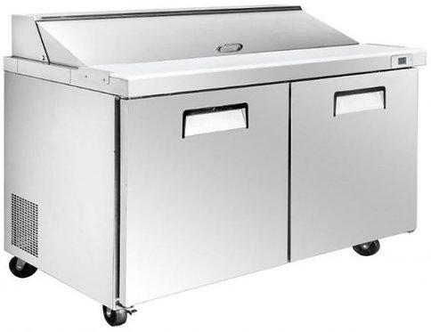 """New Genkraft GP-60 (60"""") 2 Wide Door Food Prep Table In Stainless Steel"""