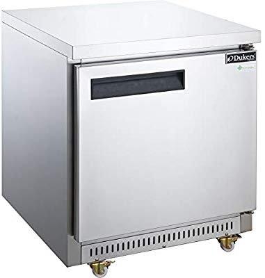 New Dukers DUC29R Single Door Undercounter Lowboy Refrigerator in S/S