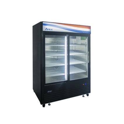 New Atosa MCF8727GR Bottom Mount (2) Glass Door Refrigerator 44.85 Cuft