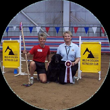 PSFD Founder Liz Blasio and her dog earn agility award.