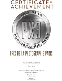 Winner of silver spot in PX3 , Paris.