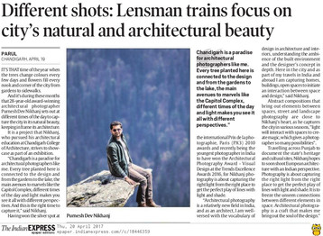 Interview In Indian Express, April 2017