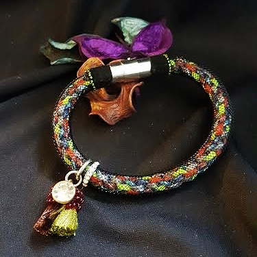 Kumihimo bracelet (Red) w/ tassels