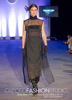 Hairpiece & Long Sheer Dress