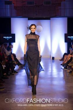 Hairpiece & Sheer Dress by ARIEL.C
