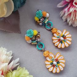 | AROF03| 菊- Bright Elegance Earrings