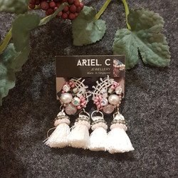 | ARB007 | Double Tassel Earrings
